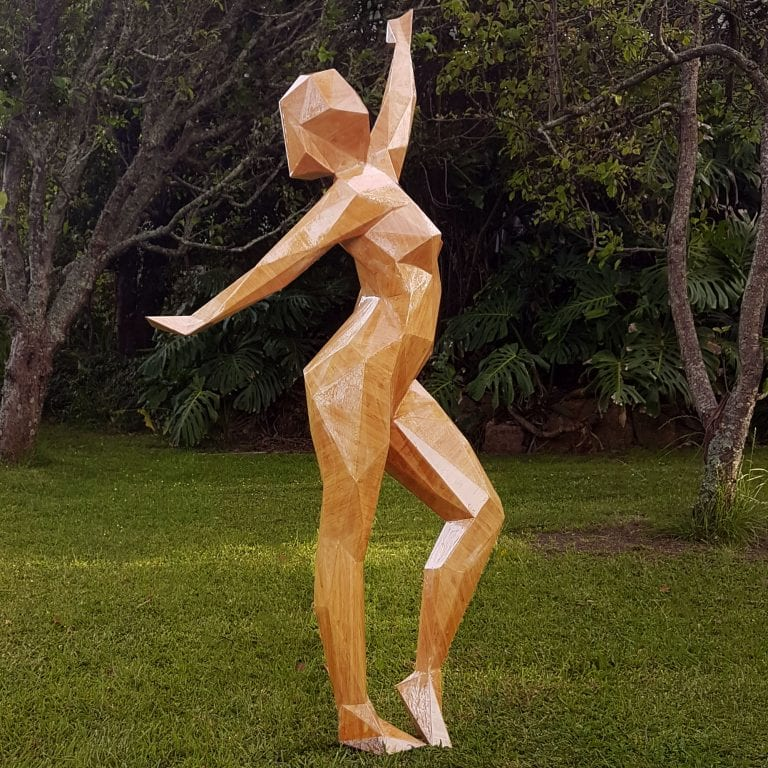 Standing female figure in bamboo