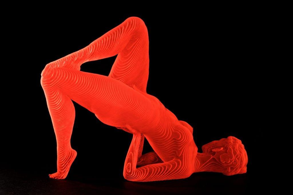 Yoga pose sculpture