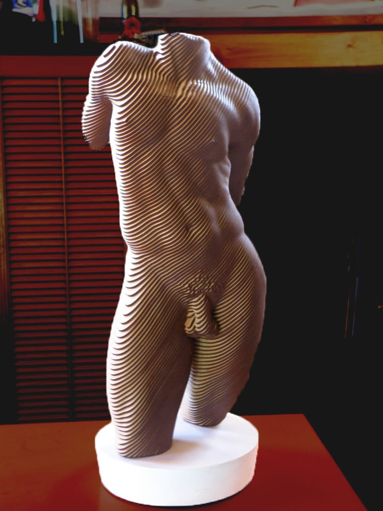 Sculpture of a male Torso